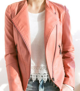 Fashion Cultivate One′s Morality Fake Leather Shorts Jacket Puj0714 pictures & photos