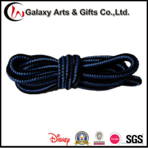Hot 120cm Polyester Round Two-Tone Boot Shoelace for Adult pictures & photos