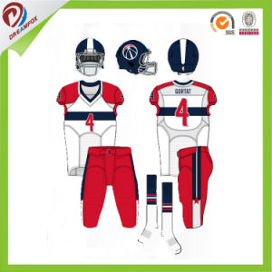 Free Custom No Fade Breathable American Football Uniform for Kid Team pictures & photos