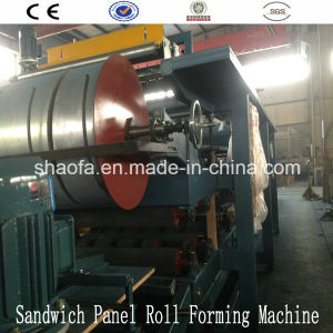 EPS and Rock Wool Roof&Wall Panel Usage Sandwich Panel Roll Forming Machine pictures & photos
