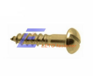 DIN96-Slotted Round Head Wood Screws pictures & photos