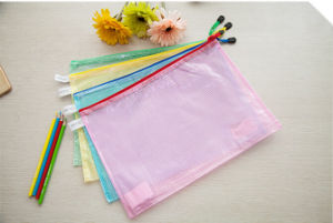PVC Mesh Zipper Bag File Bag pictures & photos