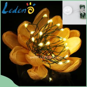 LED Button Cell Copper Battery Operated Light pictures & photos