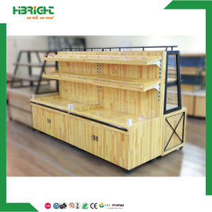 Wooden Super Market Bread Pastry Bakery Storage Rack pictures & photos