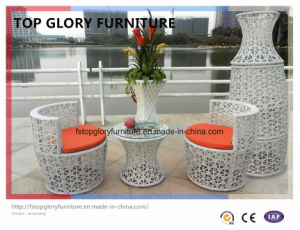 Aluminum Ootdoor Rattan Sofa Vase Set (TGBS-001) pictures & photos