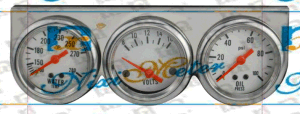 The Mechanical Triple Gauge with Voltmeter, Water Temperature Gauge and Oil Pressure Gauge pictures & photos