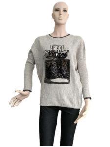Ladies Fashion Knit Shirt Sweater Long Sleeves