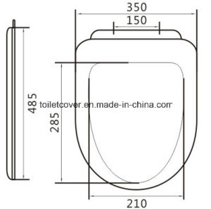 PP Toilet Seat Bathroom Accessory Heavy Feeling pictures & photos