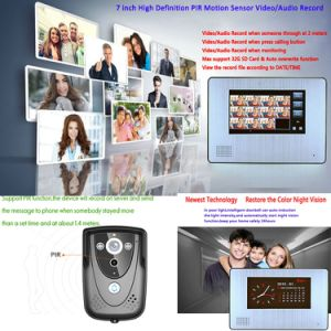 Home Security Alarm Ring Bell Video Door Phone Doorbell for Villa Use pictures & photos