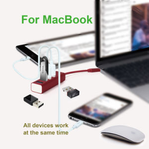 USB-C 3.1 to 4-Port USB3.0 Hub for MacBook 2016, Chromebook Pixel and Others USB Type-C Devices pictures & photos
