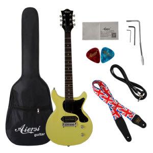 Stock Wholesale Double Flat Junior Lp Electric Guitar pictures & photos