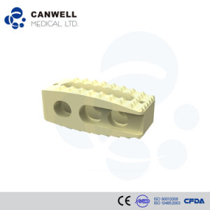 Orthopedic Spinal Peek Cage Implant, Surgical Spine Instrument pictures & photos