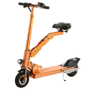 Factory Supply 10-Inch Folding Electric Kick Scooter with LED Light pictures & photos