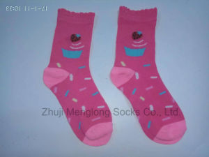 "Lovely ""Ice-Cream"" Little Girl Socks Sweet Gift Socks for Girl"