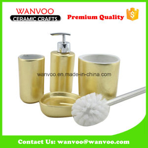 Traditional Design Ceramic Soap Dispenser of Bathroom Accessories with Toilet Brush pictures & photos