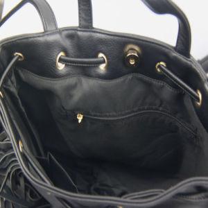 Women Fashion PU Handbag with Tassels Lady Fashion Handbag pictures & photos
