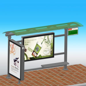 Street Furniture No Folded and Stainless Steel Metal Type Stainless Steel Bus Stop pictures & photos