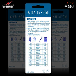 OEM AG6 1.5V Alkaline Button Cell Battery pictures & photos
