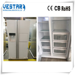 PCM White Refrigerator with Side by Side Door Fridge pictures & photos