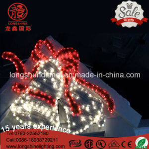 LED Eaves Decorative IP65 Tinsel Gift Bell Motif Rope Christmas Light for Xmas Decoration pictures & photos