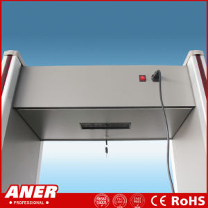 6 Zone 100 Levels Low Radiation Archway Door Frame Portable Walk Through Metal Detector for Airport Security pictures & photos
