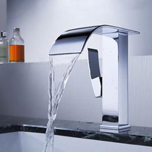 FLG Bathroom Basin Chrome Auto Sensor Faucet with Single Lever pictures & photos