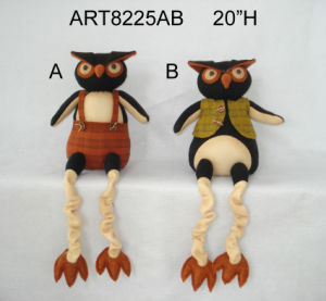 Halloween Craft Spring Legged Sitter Owl-2asst pictures & photos