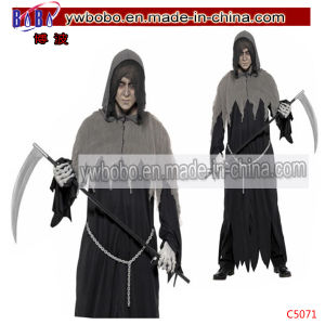 Carnival Costumes Horror Death Robe Halloween Party Costume (C5071) pictures & photos