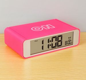 Flip on/off LCD Digital Alarm Clock Backlight Snooze Function pictures & photos