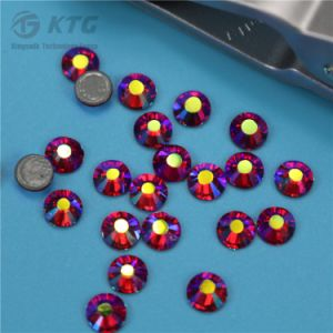 High Quality Ss20 New Hot Pink Color Machine Cut Hot Fix Rhinestone for Boutique pictures & photos