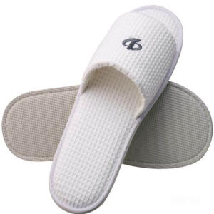 100% Cotton Waffle Slippers for Hotels Spas & Wholesale (DPF105) pictures & photos