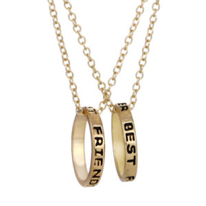Best Friends Forever Ring Pendant Necklace Bff Friendship Letter Engraved Circle Pendant Necklace Jewelry Gift pictures & photos