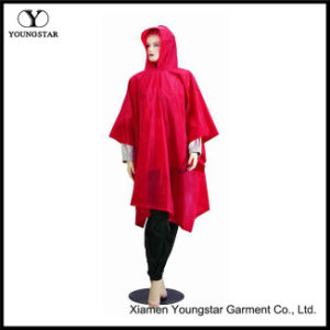 Functional and Economic Waterproof PVC Adult Rain Poncho pictures & photos