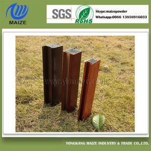 Popular Aluminium Profile Powder Coating with Wooden Transfer pictures & photos