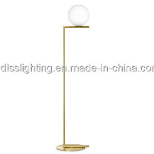Modern Simple Round Glass Ball Floor Lamps for Living Room Metal Standard Lamp pictures & photos
