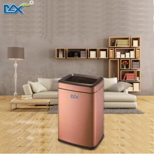 Hot Selling Square Hotel Room Rose Gold Trash Bin pictures & photos