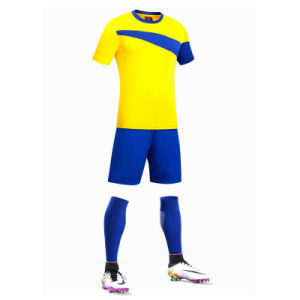 China Custom Wholesale Plain Sublimation Polyester Football Jersey Guangzhou Factory pictures & photos