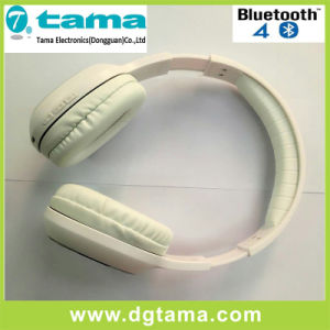Bluetooth V3.0+EDR Noise-Cancelling Overhead Headband Wireless Bluetooth Headphone White Color pictures & photos