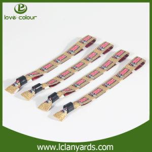 Cheaper Custom Logo Letters Design VIP Woven Wristbands