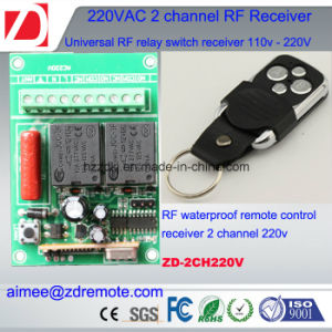 2channel 220V AC RF Transmitter and Receiver 433 / 315MHz pictures & photos