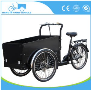 Cheap 3 Wheel Electric Tricycle Cargo Bike Price/Cargobike Factory/Kids Cargo Tricycle Bicycle pictures & photos