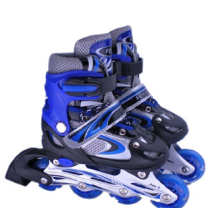 Comfortable Half-Soft Vamp Kids Inline Roller Skates Shoes pictures & photos