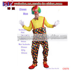 Circus Clown Costume Comedy Clowns Fancy Dress Party Outfit (C5079) pictures & photos