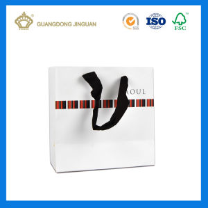 China Wholesale White Luxury Paper Carrier Bag (OEM design) pictures & photos