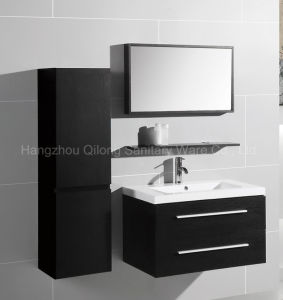2017 Melamine Vanity with Shelf and Side Cabinet in Bathroom pictures & photos