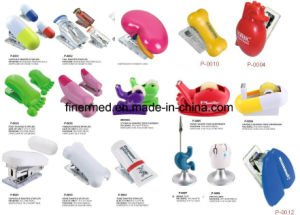 Pharma Promotional Via Bottle Heart Capsule Shaped Stapler pictures & photos