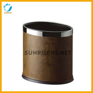 Double Layer Oval Standing Trash Bin Waste Bin pictures & photos