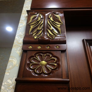 Engraving Wood Door Luxury Exterior Main Entrance Door (XS1-020) pictures & photos