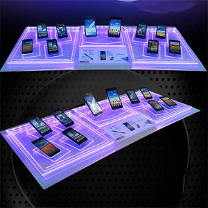 High Quality Custom Acrylic Mobile Phone Display with LED Light pictures & photos
