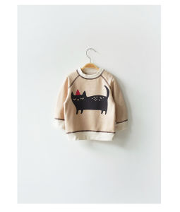 Cat Printing Baby Pull Over Hoodies Clothing for Baby pictures & photos